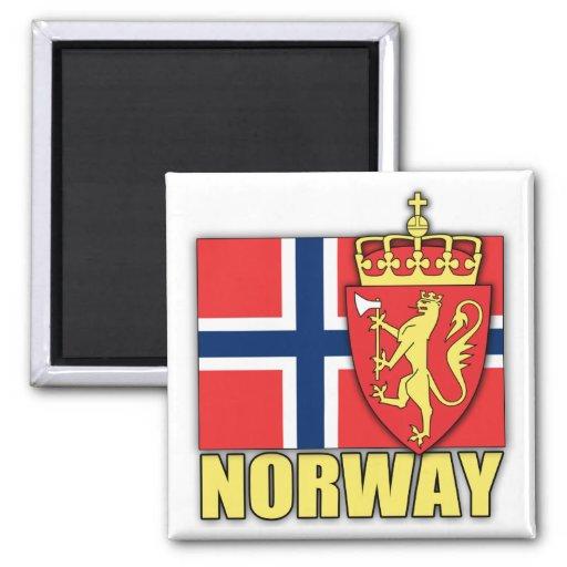 Escudo de armas de Noruega Imán Cuadrado