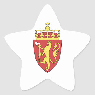 Escudo de armas de Noruega Pegatina En Forma De Estrella
