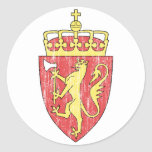 Escudo de armas de Noruega Pegatinas Redondas