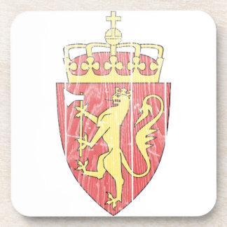 Escudo de armas de Noruega Posavasos De Bebidas