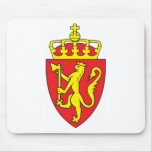 Escudo de armas de Noruega Tapetes De Ratón