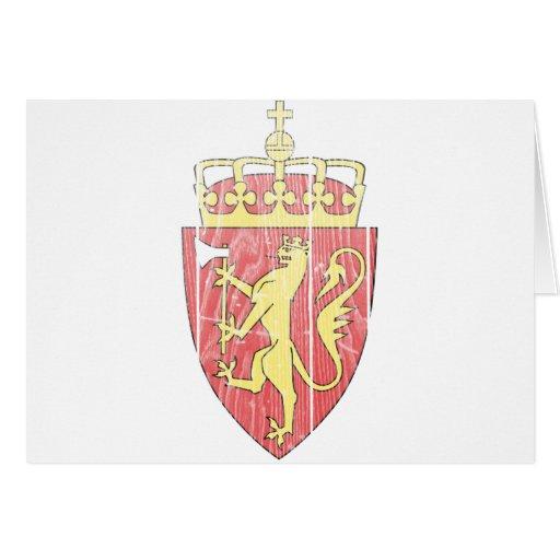 Escudo de armas de Noruega Tarjeta De Felicitación