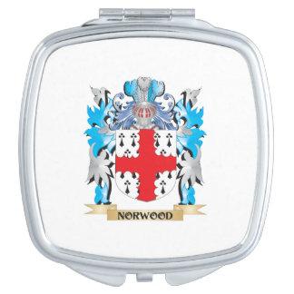 Escudo de armas de Norwood - escudo de la familia Espejos Compactos