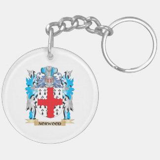 Escudo de armas de Norwood - escudo de la familia Llavero Redondo Acrílico A Doble Cara