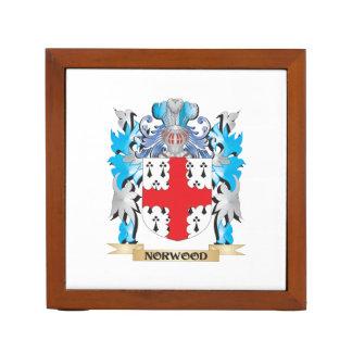 Escudo de armas de Norwood - escudo de la familia Organizador De Escritorio