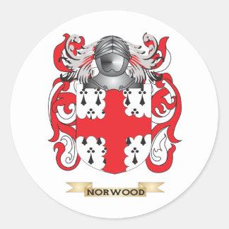 Escudo de armas de Norwood (escudo de la familia) Pegatina Redonda