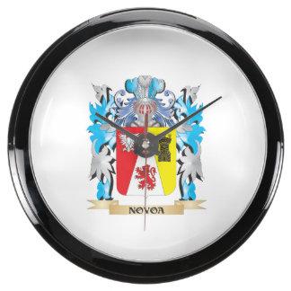 Escudo de armas de Novoa - escudo de la familia Relojes Acuario