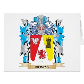 Escudo de armas de Novoa - escudo de la familia Tarjeta De Felicitación Grande