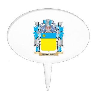 Escudo de armas de Nowland - escudo de la familia Decoraciones De Tartas