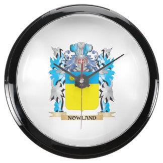 Escudo de armas de Nowland - escudo de la familia Relojes Pecera