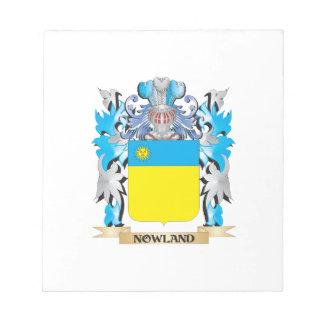 Escudo de armas de Nowland - escudo de la familia Bloc De Papel