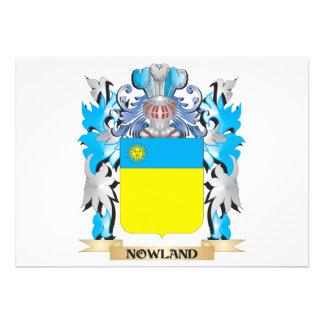 Escudo de armas de Nowland - escudo de la familia Anuncio