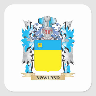 Escudo de armas de Nowland - escudo de la familia Calcomania Cuadradas