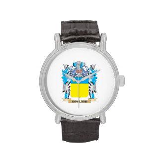 Escudo de armas de Nowland - escudo de la familia Relojes