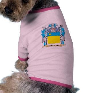 Escudo de armas de Nowland - escudo de la familia Camisetas De Mascota