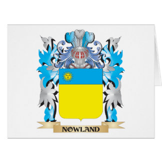 Escudo de armas de Nowland - escudo de la familia Felicitación