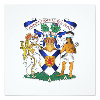"""Escudo de armas de Nueva Escocia Invitación 5.25"""" X 5.25"""""""