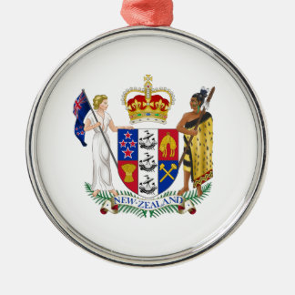 Escudo de armas de Nueva Zelanda Adorno Navideño Redondo De Metal