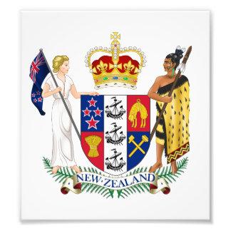 Escudo de armas de Nueva Zelanda Impresión Fotográfica