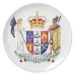 Escudo de armas de Nueva Zelanda Platos Para Fiestas