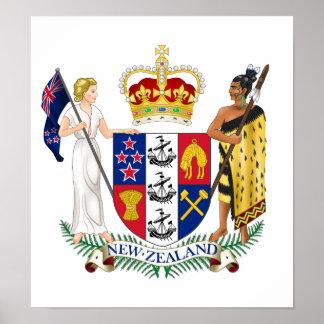 Escudo de armas de Nueva Zelanda Posters