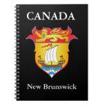 Escudo de armas de Nuevo Brunswick Libros De Apuntes