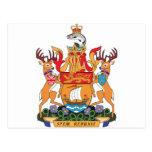 Escudo de armas de Nuevo Brunswick Tarjeta Postal