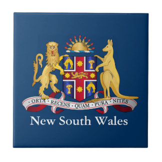 Escudo de armas de Nuevo Gales del Sur Azulejo Cuadrado Pequeño