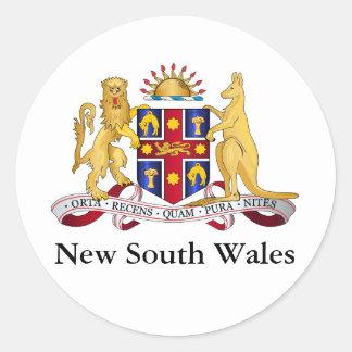 Escudo de armas de Nuevo Gales del Sur Pegatina Redonda