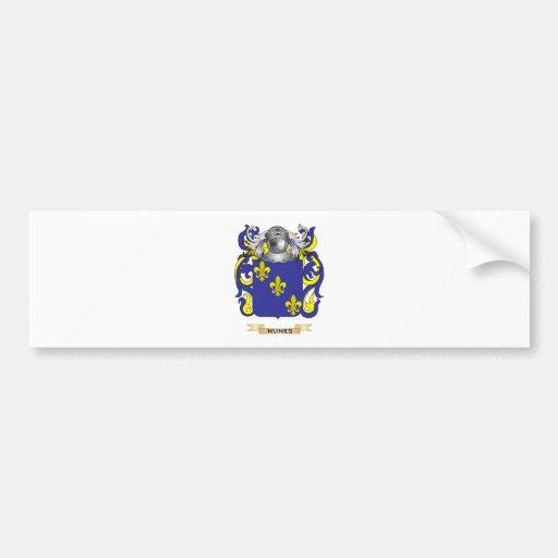 Escudo de armas de Nunes (escudo de la familia) Pegatina Para Auto