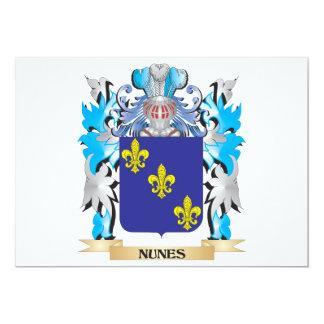 Escudo de armas de Nunes - escudo de la familia Invitaciones Personales