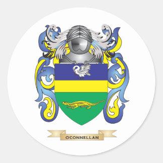 Escudo de armas de O Connellan escudo de la famil Pegatinas