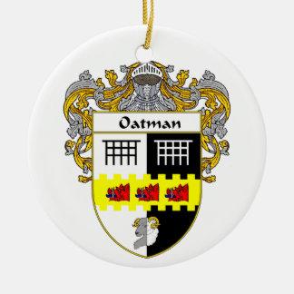 Escudo de armas de Oatman (cubierto) Adorno Redondo De Cerámica