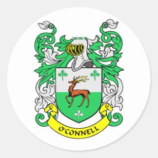 Escudo de armas de O'CONNELL Pegatina Redonda