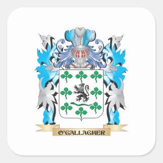 Escudo de armas de O'Gallagher - escudo de la Colcomania Cuadrada