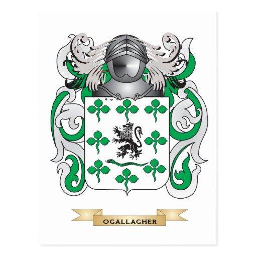 Escudo de armas de O'Gallagher (escudo de la Tarjetas Postales