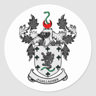 Escudo de armas de O'GALLAGHER Etiquetas Redondas