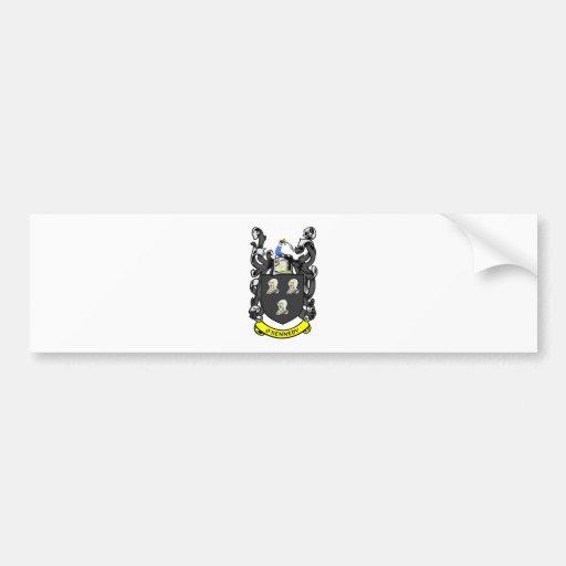 Escudo de armas de O'KENNEDY Pegatina Para Auto