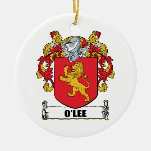 Escudo de armas de O'Lee Adorno Navideño Redondo De Cerámica
