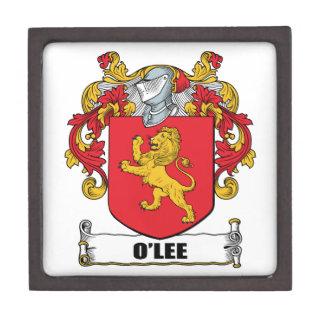 Escudo de armas de O'Lee Caja De Regalo De Calidad