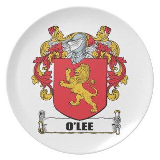 Escudo de armas de O'Lee Plato