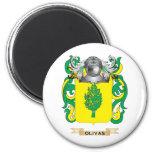 Escudo de armas de Olivas (escudo de la familia) Imanes De Nevera