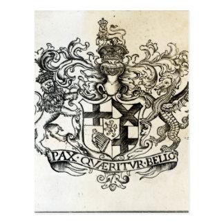 Escudo de armas de Oliver Cromwell Tarjetas Postales