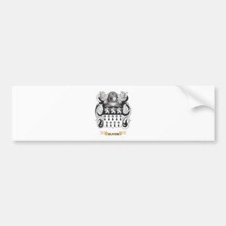 Escudo de armas de Oliverio quintilla escudo de Pegatina De Parachoque
