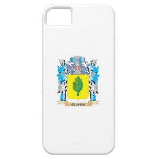 Escudo de armas de Olivos - escudo de la familia iPhone 5 Case-Mate Cárcasas