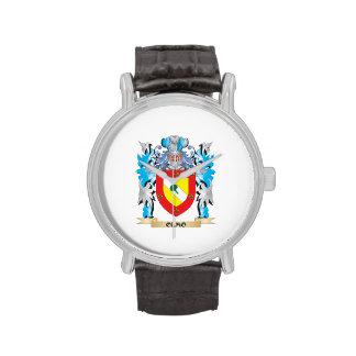 Escudo de armas de Olmo - escudo de la familia Relojes