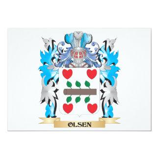 """Escudo de armas de Olsen - escudo de la familia Invitación 5"""" X 7"""""""