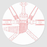 Escudo de armas de Omán Pegatinas Redondas
