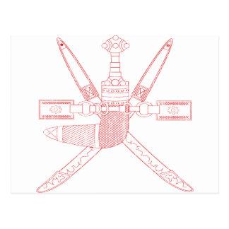 Escudo de armas de Omán Postal
