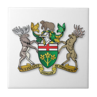 Escudo de armas de Ontario Azulejo Ceramica